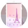 Lock theme for pink eiffel tower romance wallpaper APK icon