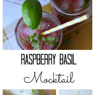 Raspberry Basil Mocktail