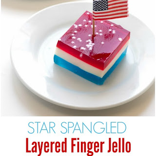 Star Spangled Layered Finger Jello