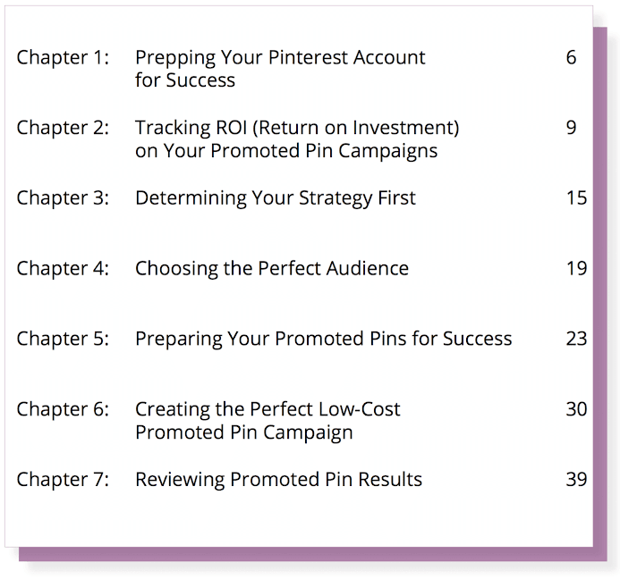 Pin Practical Promotions Primer Table of Contents