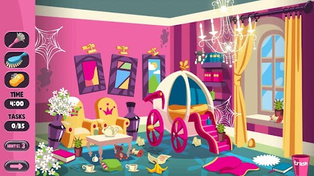 Princess House Cleaning Game New APK screenshot thumbnail 5