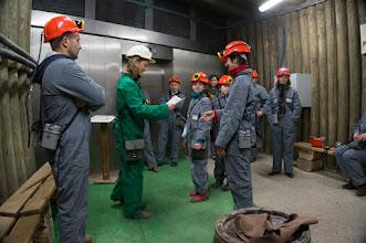 Photo: Na górniczej trasie - pasowanie na górnika
