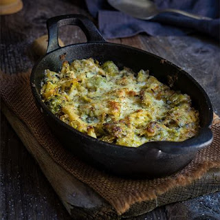 Creamy Brussels Sprouts And Fennel Skillet
