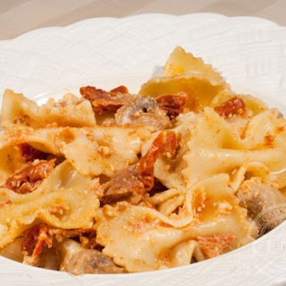 Farfalle with Mushrooms & Sun Dried Tomatoes.