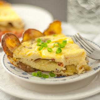 Potato Crusted Ricotta Frittata