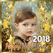 New year 2018 photo frames