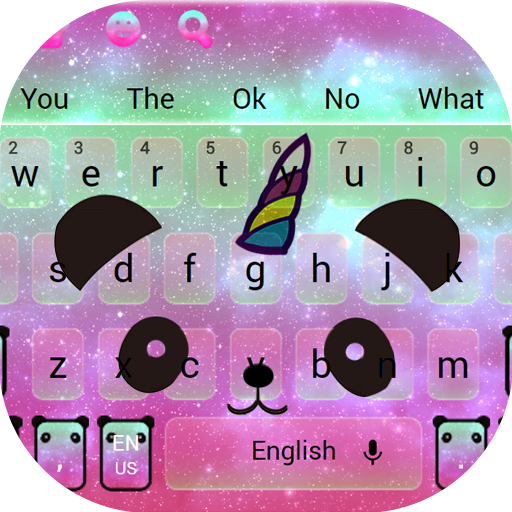 Cute Unicorn Panda Keyboard