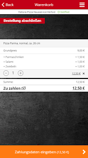 Fattoria Pizza Hausservice Herford- screenshot thumbnail