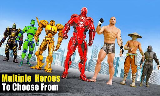 Robot vs Superhero Wrestling: Robot Fighting Games ss1