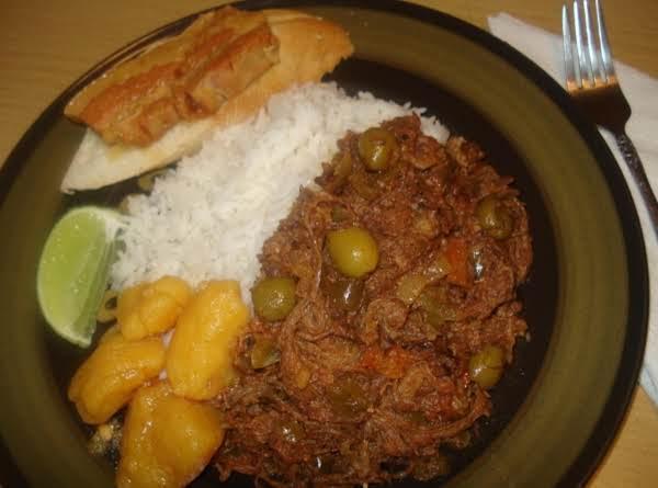 Authentic Cuban Shredded Beef, Ropa Vieja Cubana