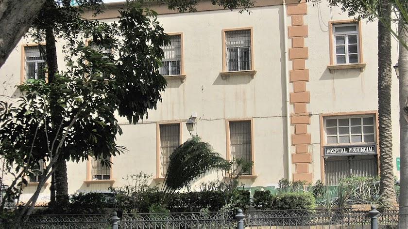 Antigua fachada del hospital provincial.