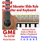 GME Guitar Musical Educator Slide Rule