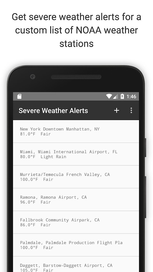 Severe Weather Alerts- screenshot