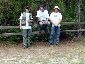 Photo: Siggi, Brian and Tony after a successful filmingat the Longleaf Pine Preserve.