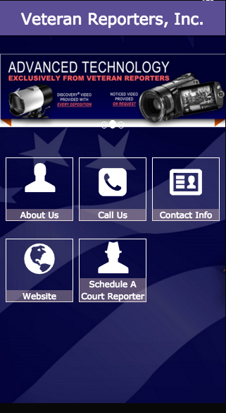 Veteran Reporters, Inc.- screenshot