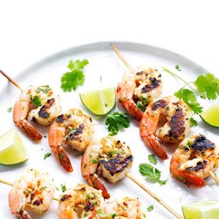 Grilled Cilantro Lime Shrimp Skewers