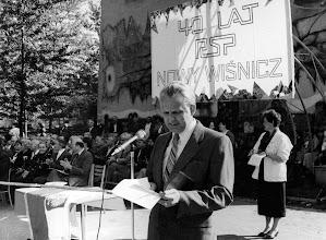 Photo: 1987 - uroczystość 40-lecia szkoły, dyr. J. Święch, z-ca dyr. E. Machalska-Hołyst