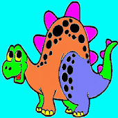 Coloring for Kids - Dinosaur