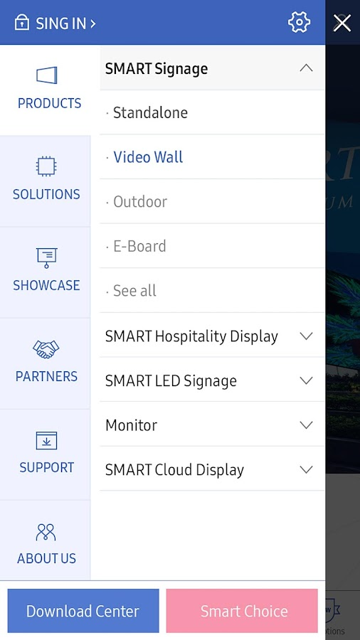 SAMSUNG Display Solutions- screenshot