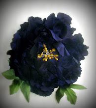 Photo: Цветы из ткани. Пион из тафты