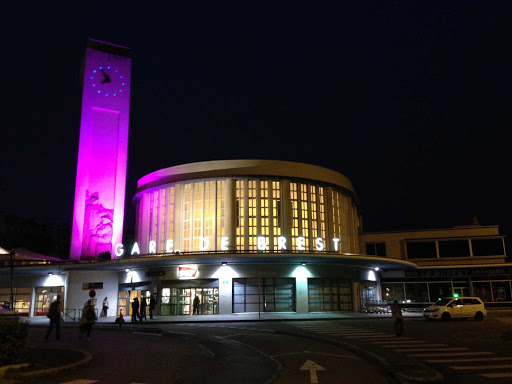 The train station in Brest, France.