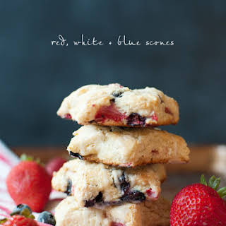 Red, White And Blue Scones.