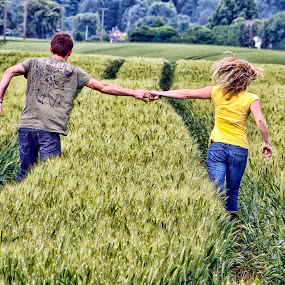 Together by Dietmar Pohlmann - People Couples ( love, field, couple, together )