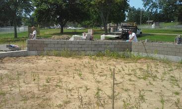 Photo: Backstop construction' 7-28-2014
