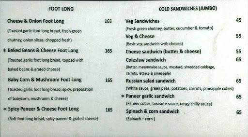 Baker's Lounge menu 3