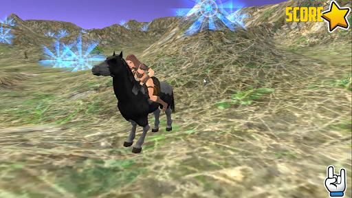 馬は道路の旅を渡っ