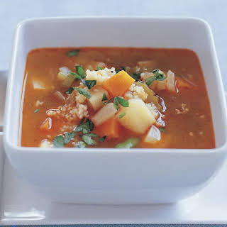 Hearty Winter Vegetable and Couscous Soup.