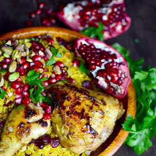 Persian Honey Glazed Chicken and Jeweled Rice