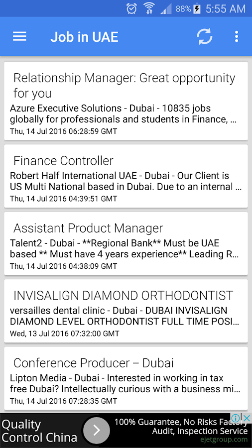 Job Vacancies In UAE - Dubai- screenshot