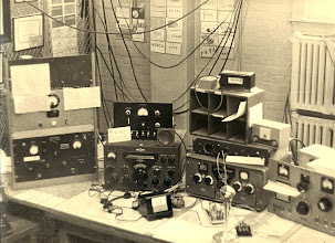 Photo: W1MX Operating Station in the Late 1960s