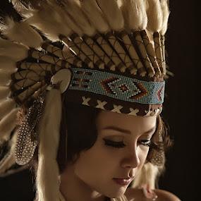 The Last Apache by Tito Adinoegroho - People Portraits of Women