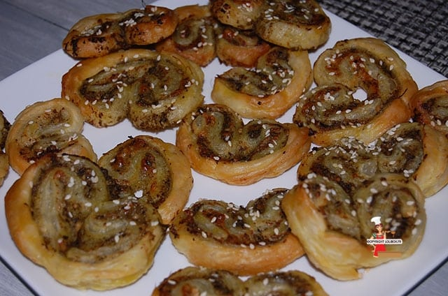 Savory Palmiers with Pesto