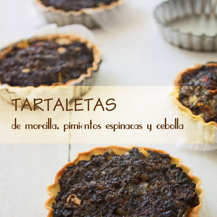Blood Sausage, Peppers, Spinach and Onion Tartlets Recipe