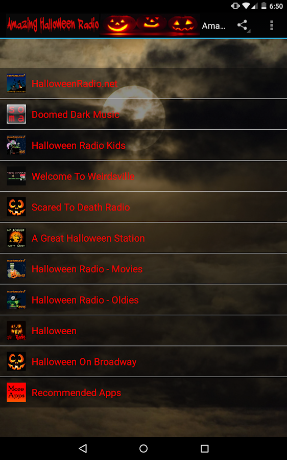 halloween radio screenshot - Kids Halloween Radio