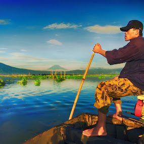 The Driver by Puguh Widura - People Portraits of Men ( nature, profession, boat, people, human )