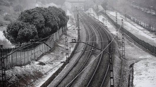 Sin tren a Madrid: la nieve obliga a cerrar todas las conexiones con la capital