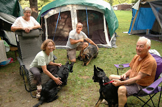Photo: Campers and their dogs at Molly Stark State Park