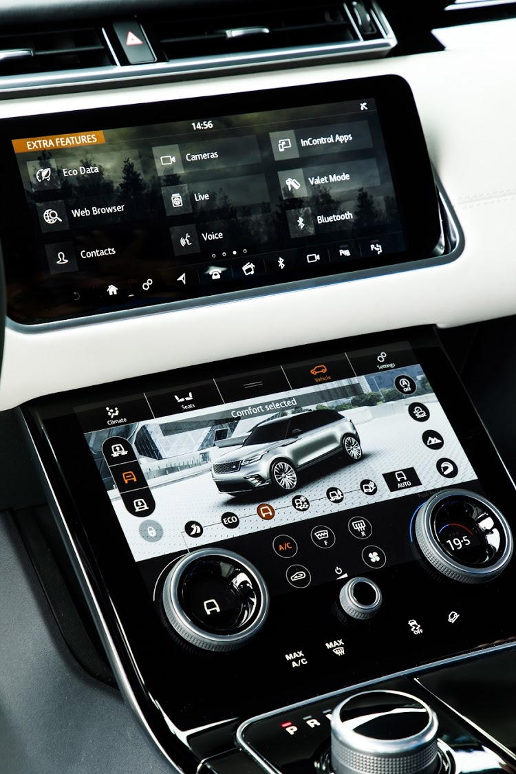 The dual touchscreen format alone puts the Velar above any of its siblings