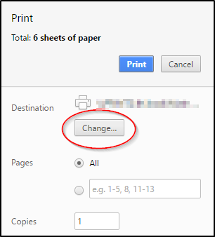 Print Options Change Button