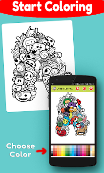 Doodle Coloring Book Free APK Screenshot Thumbnail 4