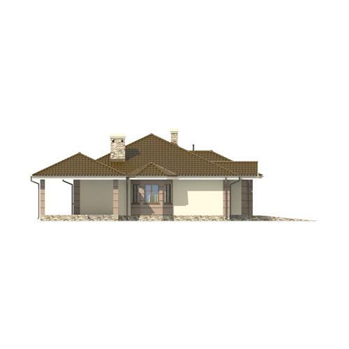 D172 - Zbigniew z garażem wersja drewniana - Elewacja lewa