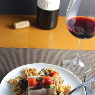 Fusilli with Grilled Swordfish, Eggplant and Tomatoes