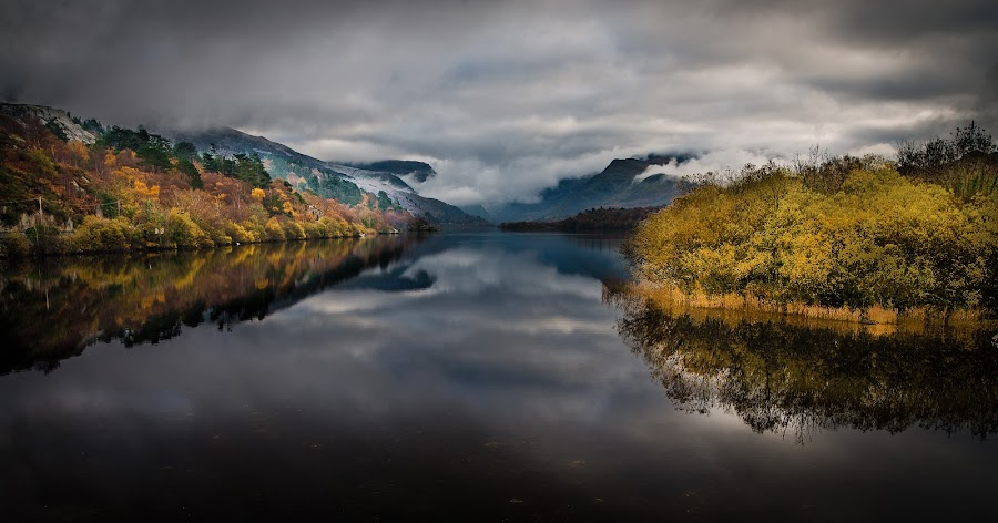 Llyn Padarn by Jim Keating - Landscapes Waterscapes ( water, clouds, wales, lake, snowdonia,  )