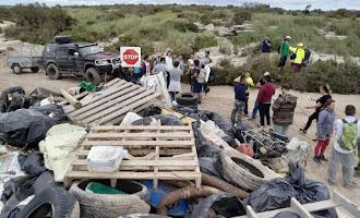 Recogida de basura en Cabo de Gata