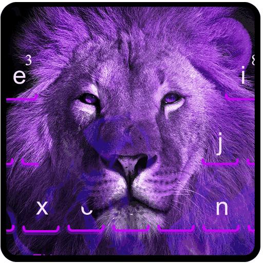 Purple Fire Lion Keyboard