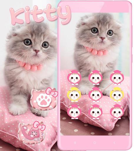 Pink Cute Kitty Cat Theme  screenshots 14